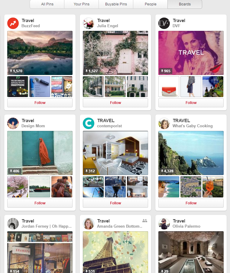 pinterest, travel, destination marketing