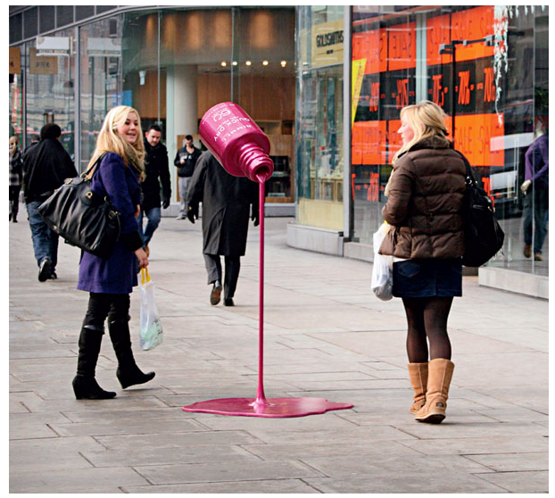installation advertising, marketing, out of the box advertising